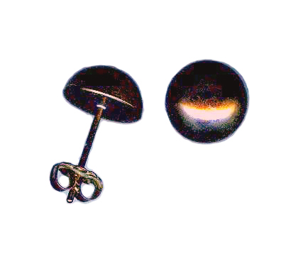 10mm titanium dome post earrings anodized bronze