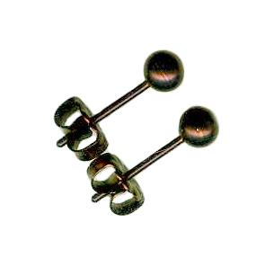 4mm titanium ball post earrings bronze