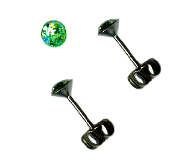 crystal titanium post earrings