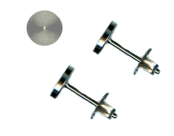 6mm titanium disc stud earrings