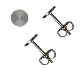 10mm titanium disc post earrings