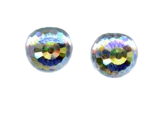 8mm swarovski crystal titanium post earrings
