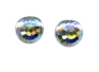 8mm swarovski crystal titanium post earrings