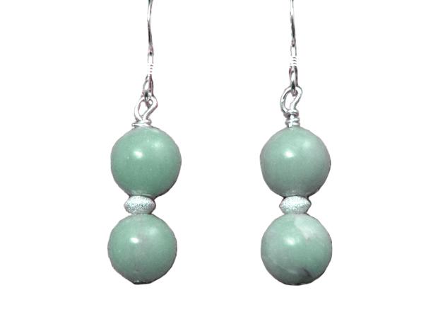 hypoallergenic angelite earrings