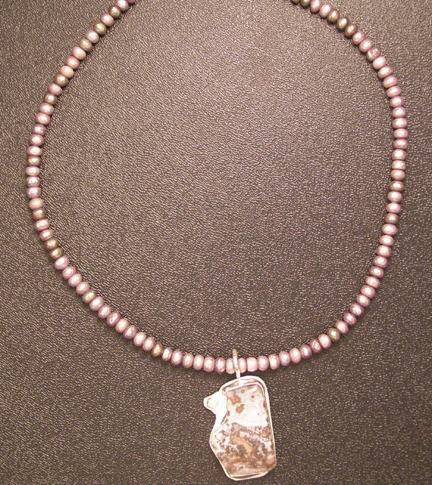 Cripple Creek jasper and opal necklace