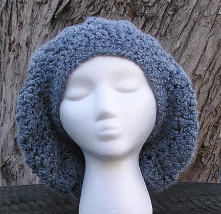 Eleanor beret style crochet hat