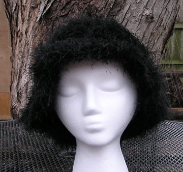 custom faux fur crochet hat