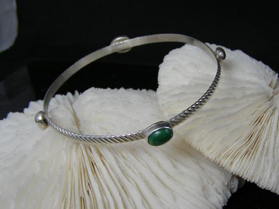 designer jade and sterling silver bracelet