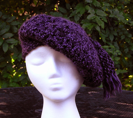 Tassel Beret Crocheted hat