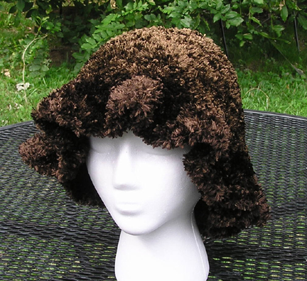 handmade faux fur crochet hat