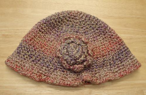 cloche crochet hat