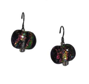 hypoallergenic dichroic glass earrings