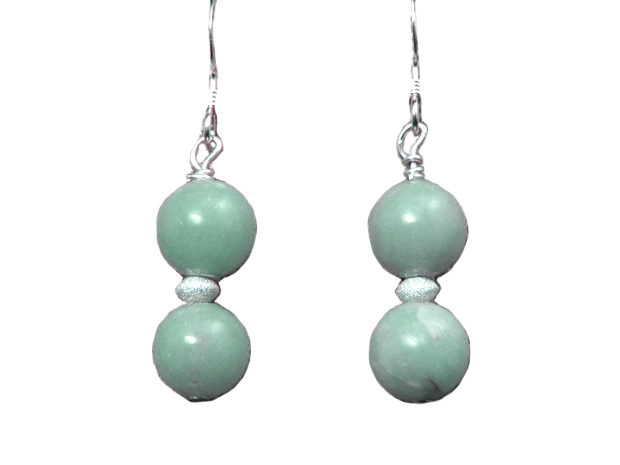 hypoallergenic angelite earrings