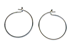 Argentium Silver hypoallergenic post earrings