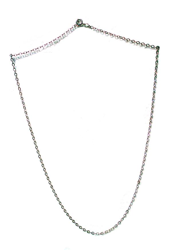 18 inch argentium silver chain necklace