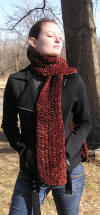Autumn Leaves Crocheted Scarf