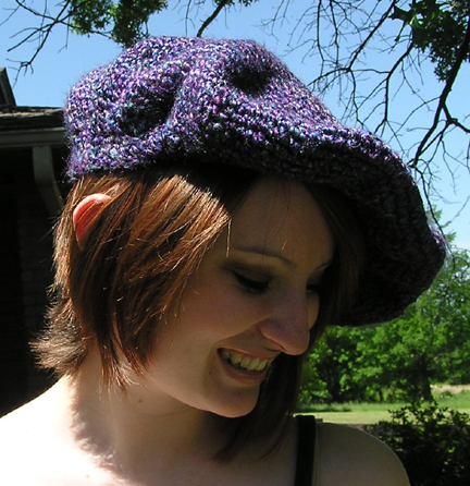 Crocheted beret style hat