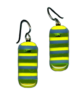 hypoallergenic fused glass earrings