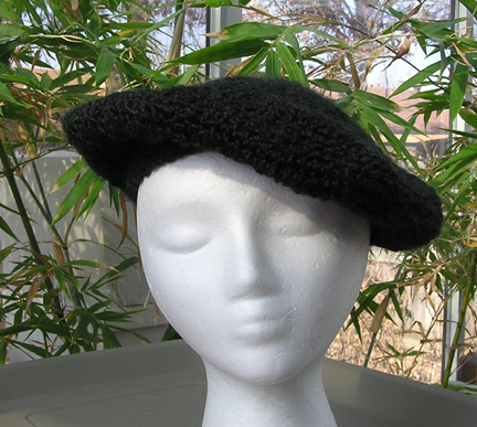 custom classic beret crochet hat