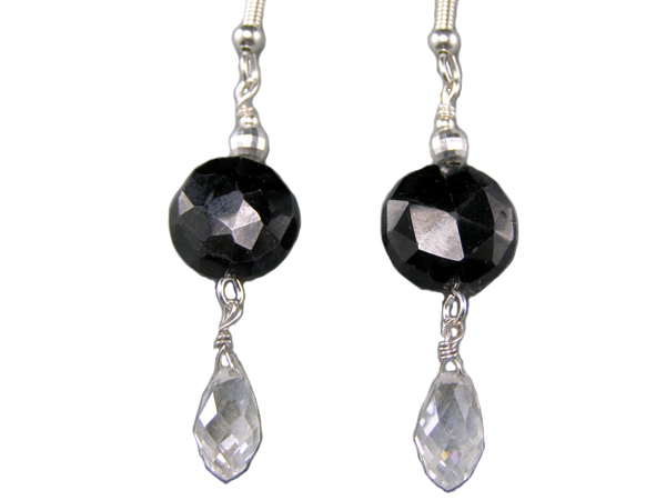 handcrafted hypoallergenic black spinel earrings