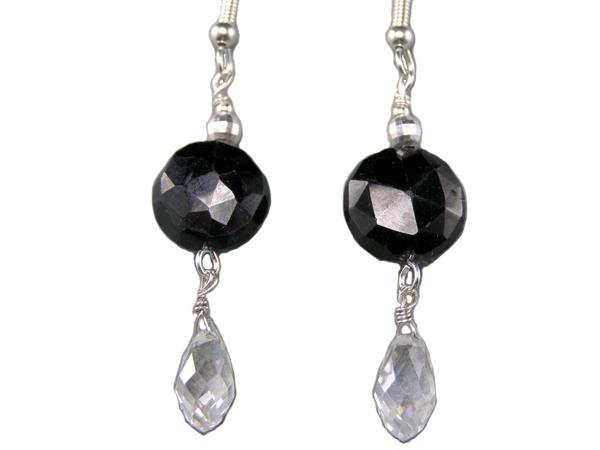 handcrafted hypoallergenic black spinel earrings