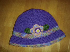 handcrafted crocheted hat by Grace