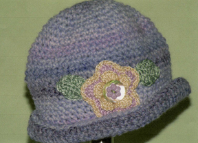 Hand made crocheted hat by Grace
