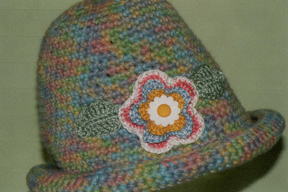 hand crocheted hat by Grace