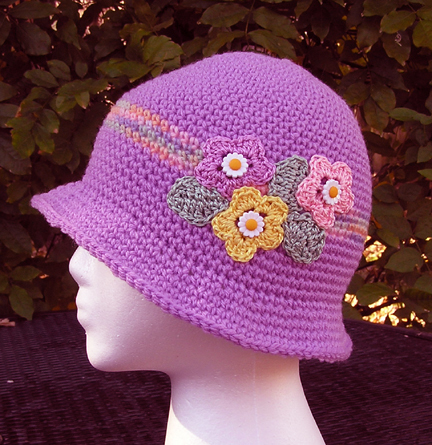 Grace Bloomin Beanie in Violet