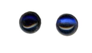 6mm blue sapphire cab titanium post earrings