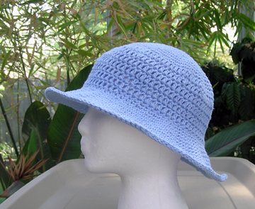 crochet cotton sun hat