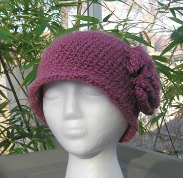 custom boston rose crochet cloche