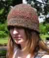 flapper style crocheted hat