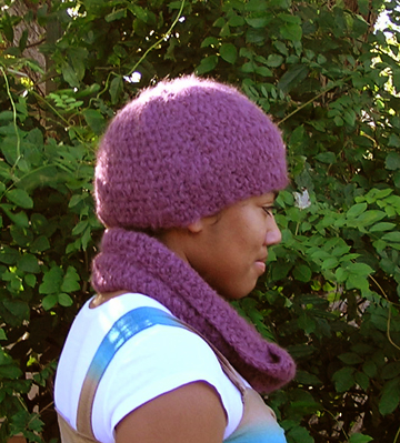 Cloud suri alpaca crochet hat