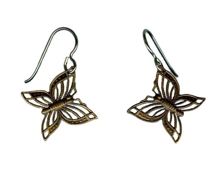 hypoallergenic butterfly earrings