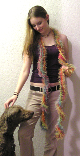 faux fur crocheted boa