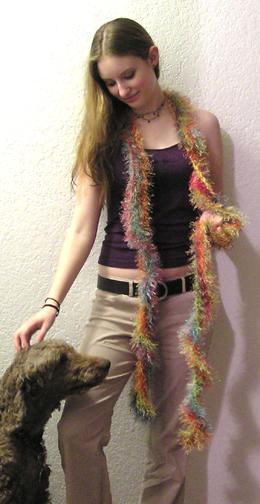 faux fur crocheted boa