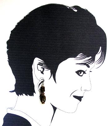 hypoallergenic handpainted glass beadl earrings