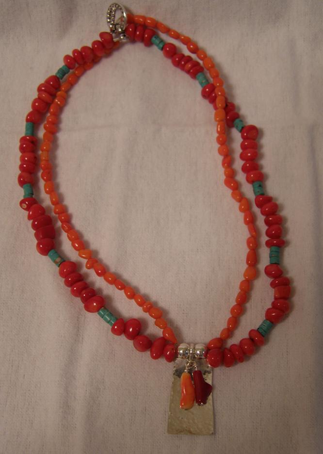 designer coral necklace