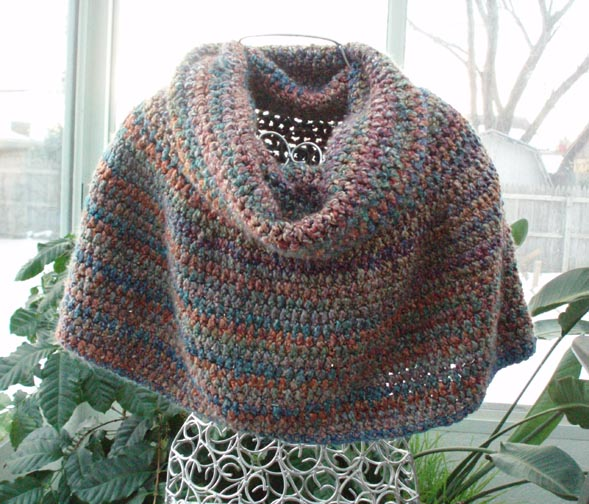 custom cowl neck poncho