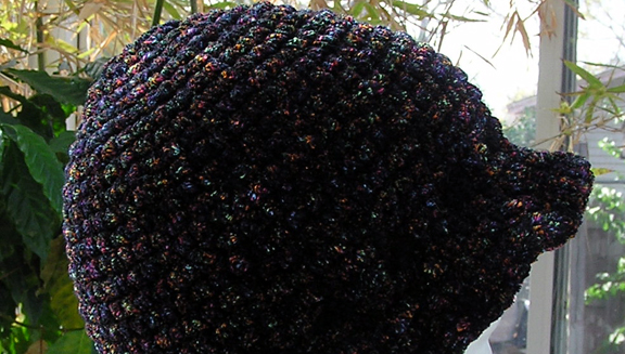 Chenille Crocheted Hat