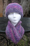 Custom Infinity Cowl Scarf & Hat Set