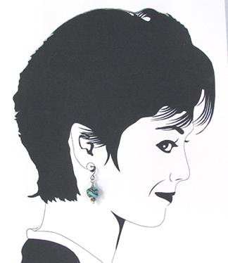 lampwork bead earrings by Candy Wall
