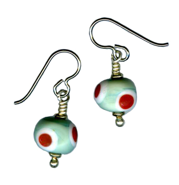 lampwork hypoallergenic dangle earrings