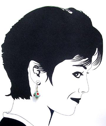lampwork hypoallergenic dangle earrings