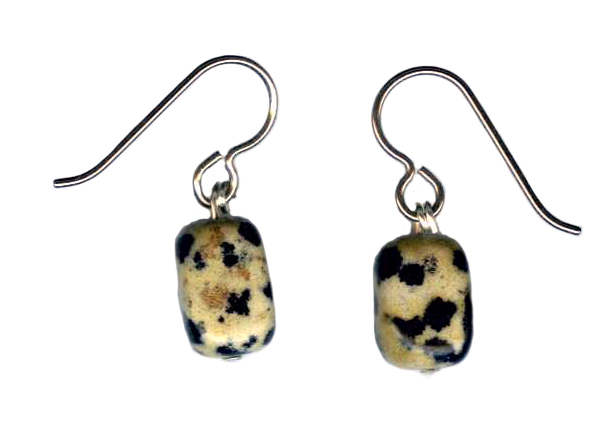 dalmation jasper  Hypoallergenic Earrings