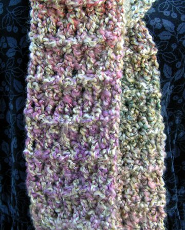 soft textured crochet scarf