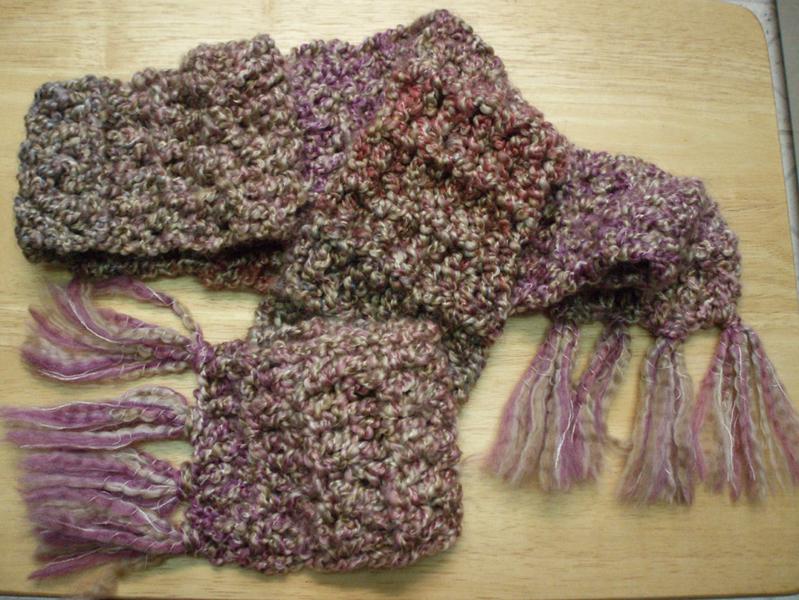 soft textured crochet scarf