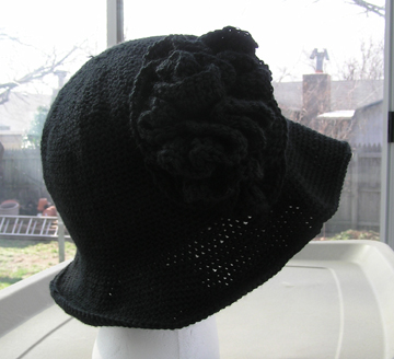 custom sweet charity hat in black