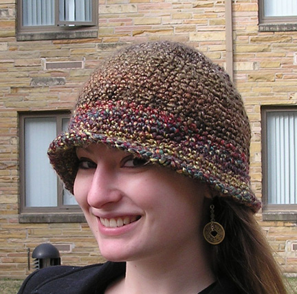 Custom handcrafted flapper style crocheted hat